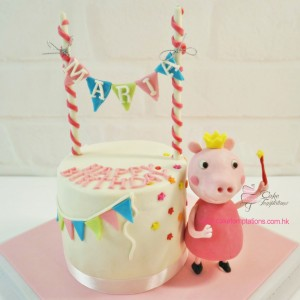 1 Layer Peppa Pig Cake