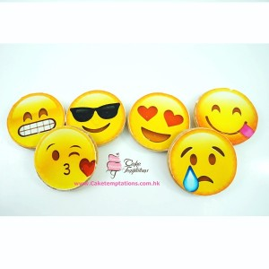 Emoji photo print cookies