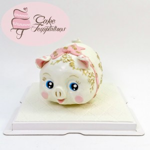 Mini Lucky Piggy Bank Cake