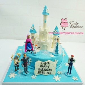 Mini Princess Castle Cake - Frozen Themed