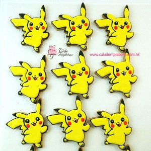 Pokemon shape cookies