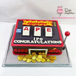 3D Slot Machine cake
