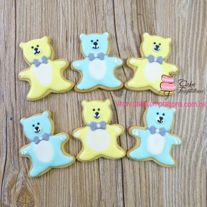 Bow tie  Teddy Bear Cookie