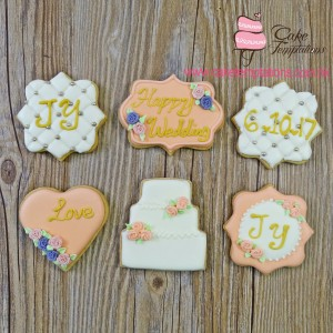 Happy Wedding Cookies