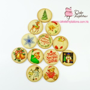 Assorted Xmas printed cookies