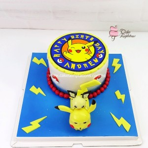 3D Pikachu & Pichu birthday cake (Pokemon)