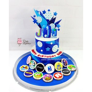 2 Layers Jazzware celebration cake