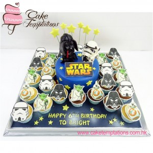 Star War photo-printed cupcake