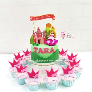 Princess themed Cupcake Set