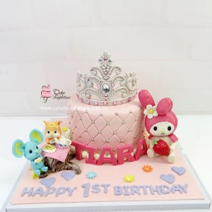 My Melody Tiara Birthday Cake