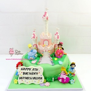 Mini Princess Castle Cake V1