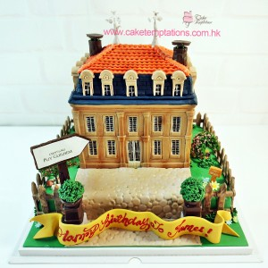 3D French Winery cake