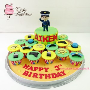Police themed cupcake set