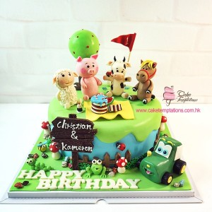 Animals Picnic cake
