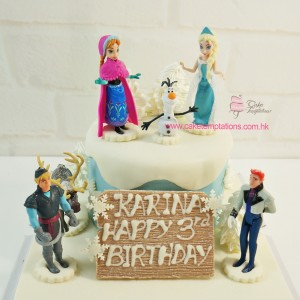 Frozen Cake w. Mini Frozen Figures