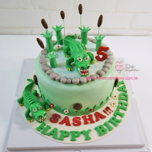 Crocodile Happy Birthday Cake
