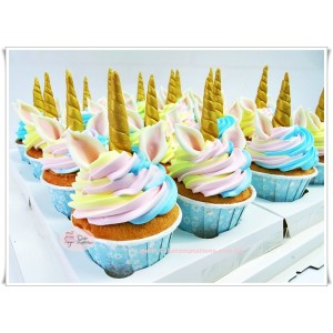 Unicorn cream cupcake