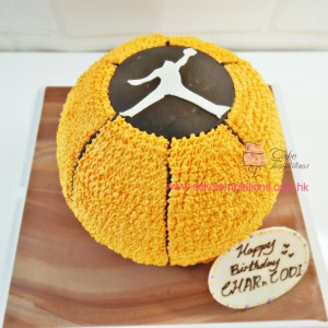3D Basketball Cream Cake