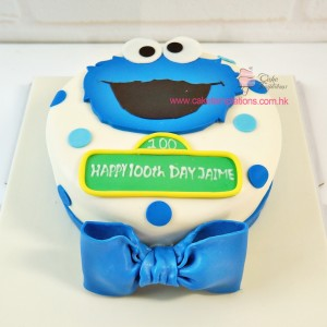 2D Cookie Monster Cake