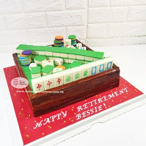3D Mahjong (Grand 3 chiefs )Cake