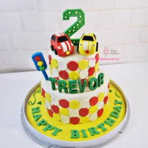 Happy 1st Birthday Traffic light & Car Cake