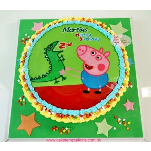 Peppa Pig Cute Birthday Cake