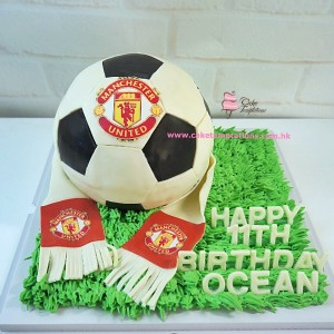 3D Manchester United football cake