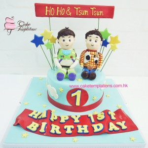 Cartoon Buzzlight & Woody brothers cake