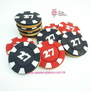 Poker Chips Cookies