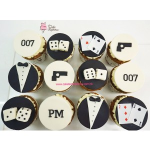 007 James Bond themed  cupcakes