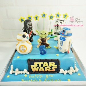 Star wars popular characters cake