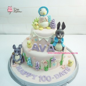 2 Layers Peter Rabbit 100 Days Cake