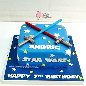 Star wars the Saber light cake