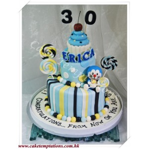 3D Happy Doraemon Cake