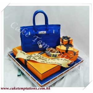Hermes Bag With Boxes Cake