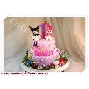 Melody & Friends Happy Celebration 2-Layers Cake