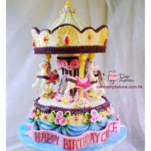 Merry Go Around 3D Cake - Grand
