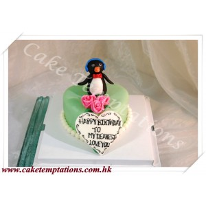 Penguin Love Cake
