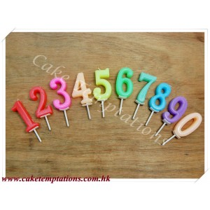 Numbers Candle