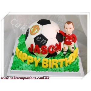 3D Football Cake w. Football Player