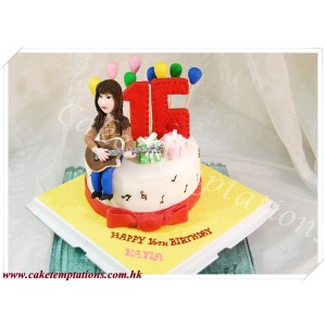 Guitar Player Birthday Cake