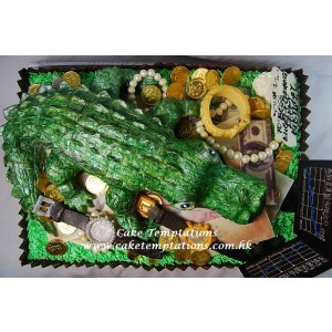 Crocodile Investment Master 3D Cake