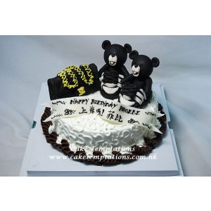 Mini CHANEL Handbag w. adidasxJeremy Scott JS Bears (Black) Shoes Cake