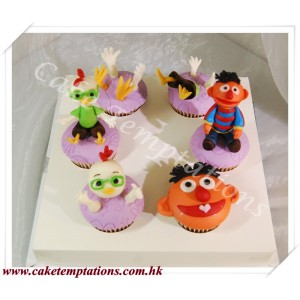 Cupcake Set-Forever Friends,Ernie & Chicken Little