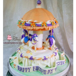 Merry-Go-Around 3D Cake
