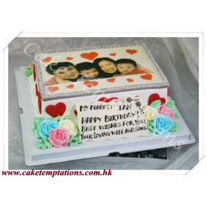 Happy Family Birthday Cake