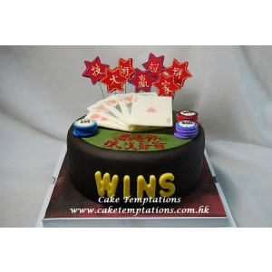 3D Gamble Table Cake