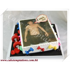 Photo Printing Cake- Muscle Man