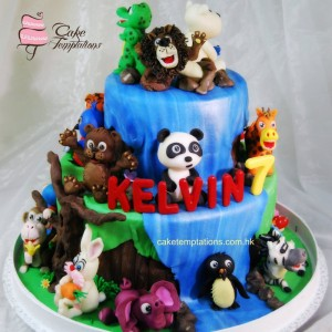 Animal Birthday Party in Jungle
