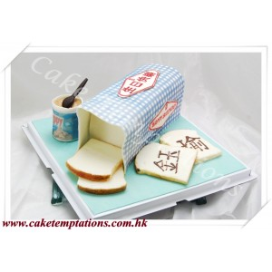 3D Life Bread Cake